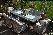 Gartenmöbel Set Como-6 Tisch ausziehbar Holzdekor