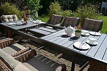 Gartenmöbel Set Como XL-8 Natur-braun Tisch