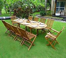 Gartenmöbel-Set für 8-10 Personen, 2er-Se