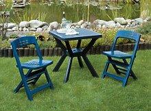Gartenmöbel Set Reno 3-teilig klappar Kunststoff