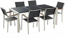 Gartenmöbel Set Tisch 180 cm mit 3 Platten in