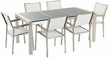 Gartenmöbel Set Tisch mit 3 Platten in Grau 6