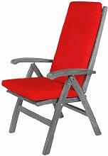 Gartenmöbel Stuhl Sessel NUR Sitzkissen, Wasserfest - Gemischte Materialien, Ro