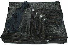 Gartennetze HUO Schwarz Quadrat Sonnenschirm Net