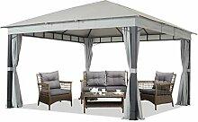 Gartenpavillon 4x4 m ALU Premium ca. 220g/m²
