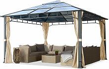 Gartenpavillon 4x4 m Polycarbonat Dach ca. 8 mm