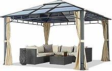 Gartenpavillon 4x4 m Polycarbonat Dach ca. 8mm