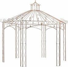 Gartenpavillon Antikbraun 4 m Eisen VD29571 -