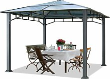 Gartenpavillon ca. 3x3 m Aluminium Gestänge