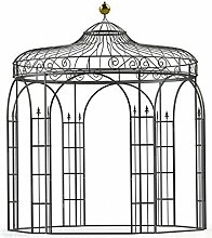 Gartenpavillon, Metallpavillon, Eisen Pavillon, Rankpavillon, Pavillon Stabil Antwerpen Ø 350 cm (Verzinkt)