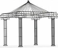 Gartenpavillon, Metallpavillon, Eisen Pavillon, Rankpavillon, Pavillon Stabil Empire 300 x 300 cm (Schwarz Bergolin)