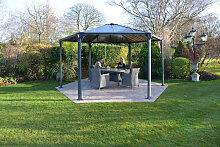 Gartenpavillon Monaco Gazebo Hexagonal 4500 grau - Palram