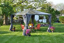 Gartenpavillon Palermo Gazebo 3600 grau - Palram