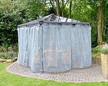 Gartenpavillon Palermo Netz grau - Palram