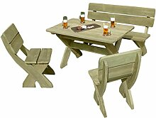 Gartenpirat Gartenbank mit Picknicktisch und 2