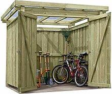 Gartenpirat Gerätehaus Holz mit Flachdach Typ-1
