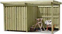 Gartenpirat Gerätehaus Holz mit Flachdach Typ-2