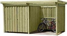 Gartenpirat Gerätehaus Holz mit Flachdach Typ-3