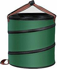 Gartensack Abfallsack faltbar Kompost Behälter Gartenabfallbehälter aus Oxford Gewebe mit Griffe (Grün)