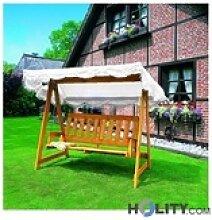 Gartenschaukel aus Holz h24816