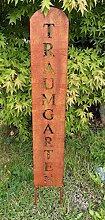 Gartenschild Traumgarten Gartenstecker Gartendeko