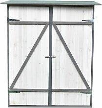 Gartenschrank mit Pultdach und Doppelflügeltür