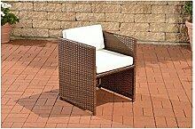 Gartensessel braun Gartenstuhl Polyrattan Lounge