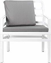 Gartensessel / Sofa Lounge Aria Kunststoff weiß /