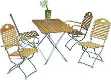 Gartensitzgruppe aus Robinie massiv klappbar