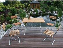 Gartensitzgruppe aus Robinie Massivholz und Stahl