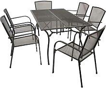 Gartensitzgruppe in Anthrazit Aluminium und Stahl