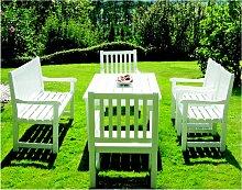 Gartensitzgruppe Rügen 66 weiss lackiert - Astor
