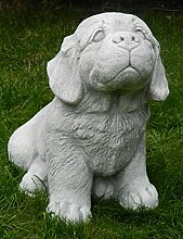 Gartenskulptur Skulptur Beton Figur Hund Welpe