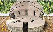 Gartensofa Jalyn mit Kissen Garten Living Farbe: