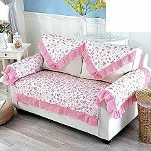 Gartensofa Staubdichtes sofakissen Volle deckung sofabezug-Rosa 120x170cm(47x67inch)