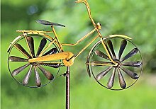 Gartenstab Fahrrad aus Metall 130 cm Gartenstecker