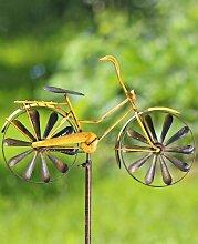 Gartenstab Fahrrad Gartenstecker mit antikem