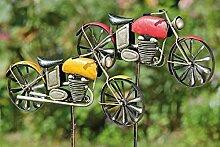 Gartenstab Motorrad sort H160