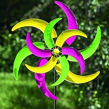 Gartenstab Windmühle Eisen farbmix Höhe 184 cm, Gartenstecker, Gartendeko