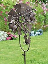 Gartenstecker ''Windrad mit Katzen'', 130 cm