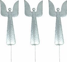 Gartenstecker 3er Set Weihnachtsengel Engel aus