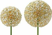 Gartenstecker - Allium - H100cm / D15cm - Gelb - Gartendeko