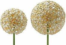 Gartenstecker - Allium - H120cm / D20cm - Gelb - Gartendeko