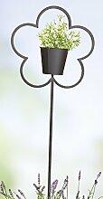 Gartenstecker als Pflanztopf, 38/110 cm