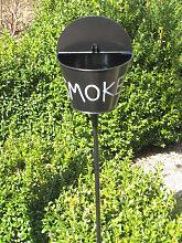 Gartenstecker Aschenbecher schwarz, 110 cm