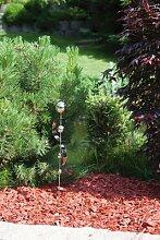 Gartenstecker aus Edelstahl mit 4 Edelstahlkugeln