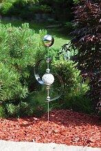 Gartenstecker aus Edelstahl mit 6 Edelstahlkugeln