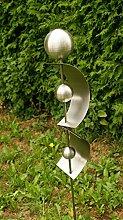 Gartenstecker aus Edelstahl Skulptur Zilly