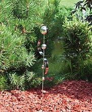 Gartenstecker aus Edelstahl - wetterbeständig -