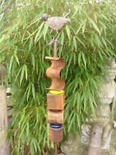 Gartenstecker Beetstecker Edelrost Vogel ,